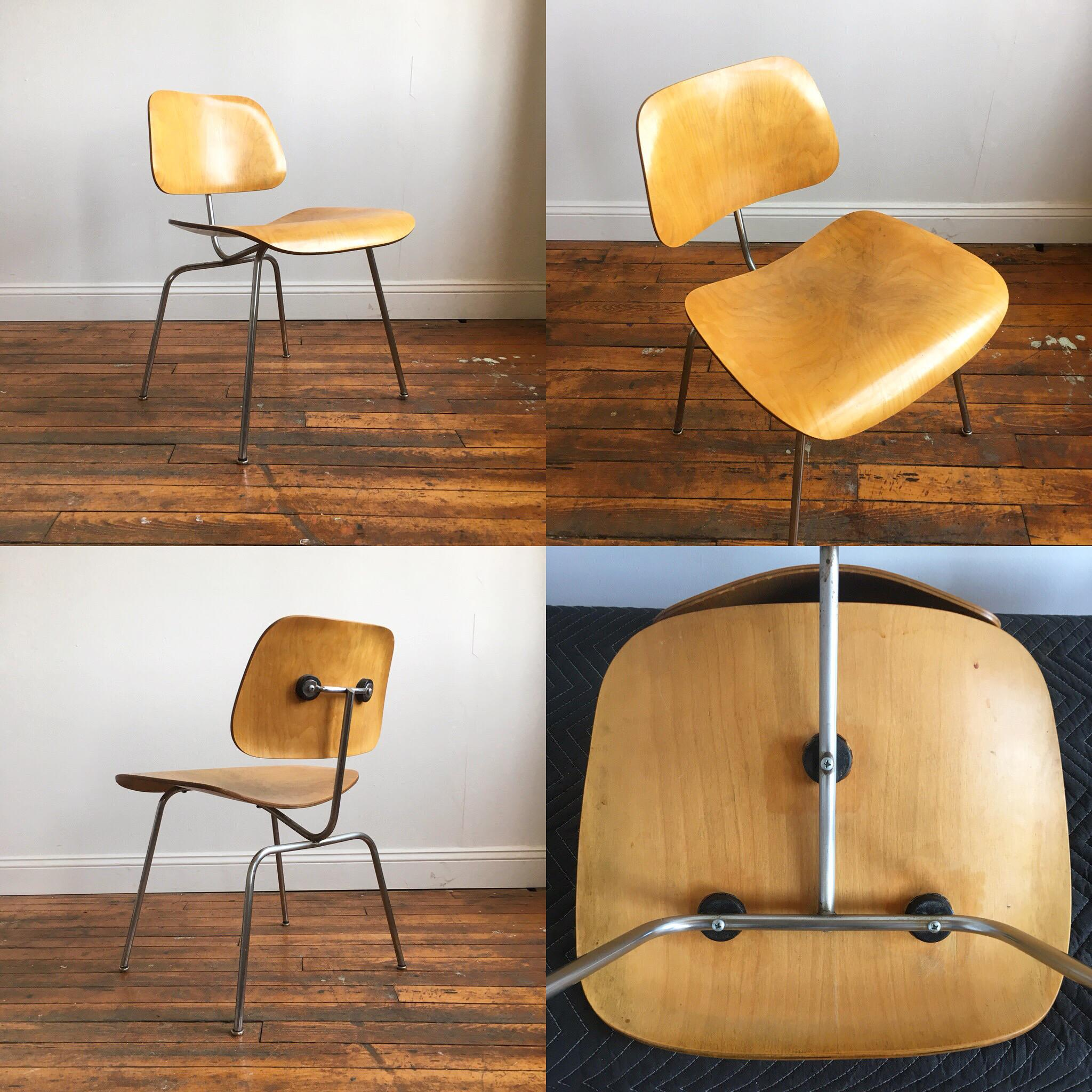 Vintage Herman Miller Eames Molded Plywood Chairs   Set Of 4   Image 7 Of 11