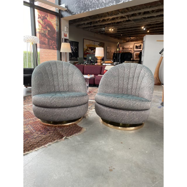 Swivel Club Chairs by Milo Baughman for Thayer Coggin - a Pair For Sale - Image 13 of 13