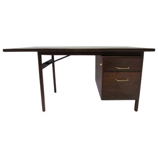 Mid-Century Walnut Executive Desk For Sale