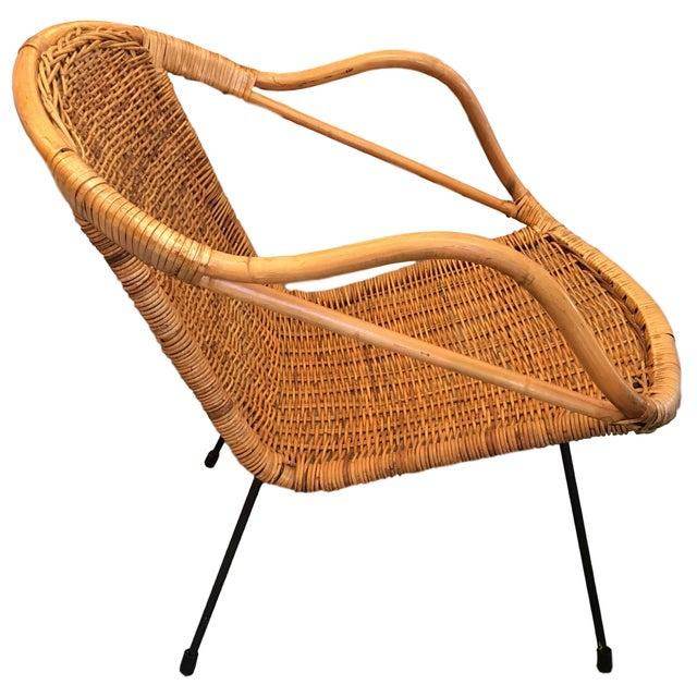 Vintage Rattan Hoop Chair - Image 2 of 5
