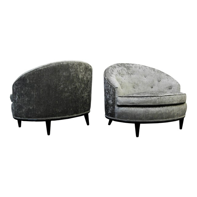 Mid-Century Barrel Back Slipper Chairs - A Pair - Image 1 of 8