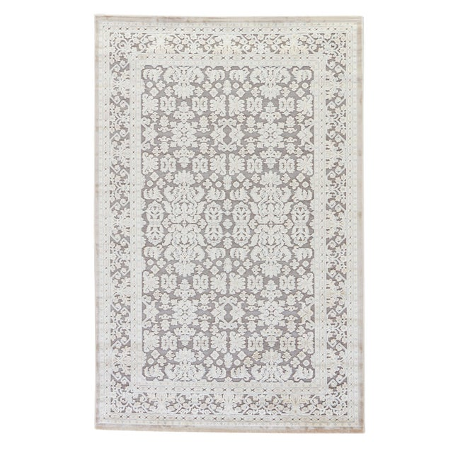 Jaipur Living Regal Damask Gray/ White Area Rug -7′6″ × 9′6″ For Sale In Atlanta - Image 6 of 6