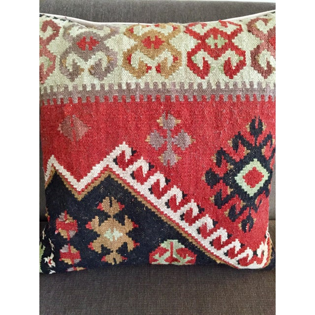 Pottery Barn Kilim Pillow - Image 3 of 7