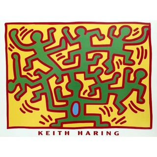 (after) Keith Haring Untitled, 1988 (From Growing Series), Exhibition Poster 1988 For Sale