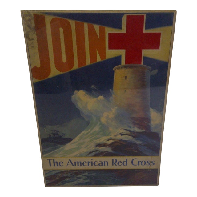 Vintage WWII American Red Cross Poster For Sale