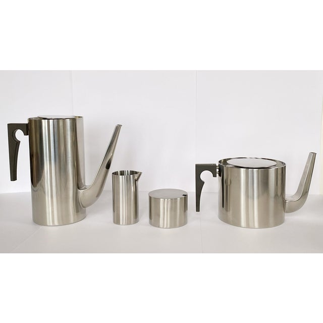1967 Arne Jacobsen Cylinda Line for Stelton of Denmark Coffee and Tea Set - 4 Pieces For Sale - Image 9 of 9