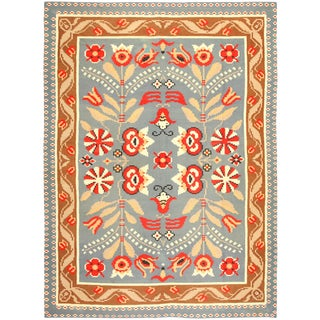 Vintage Mid-Century Swedish Kilim Rug - 9′ × 11′9″ For Sale