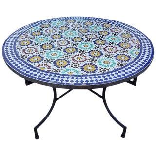 Moroccan Multicolor Beldia Mosaic Table