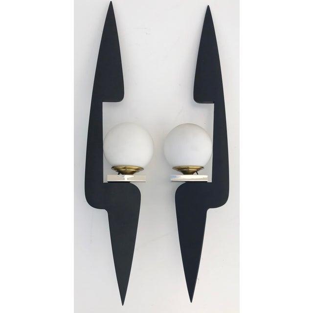 Black Maison Arlus Sconces - a Pair For Sale - Image 8 of 8