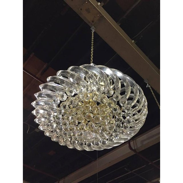 Italian Mid Century Lucite and Decorative Balls Chandelier - A Pair For Sale - Image 3 of 3