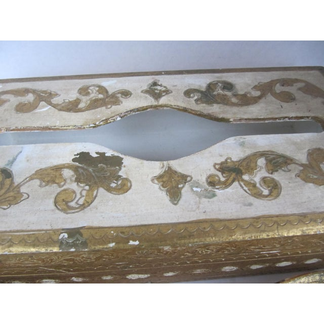 Florentine Tissue Box Holder & Tray For Sale - Image 6 of 8