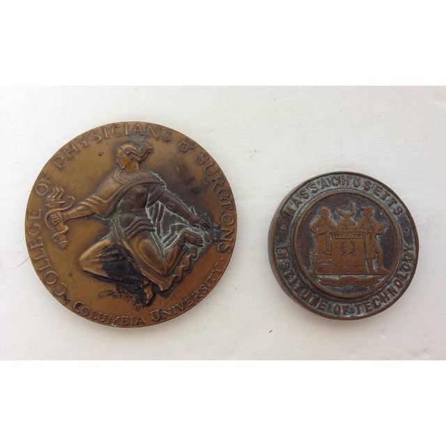 Vintage Medal Medallions & Paperweights - Set of 5 - Image 6 of 9