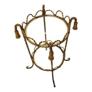 Italian Gilt Metal Rope Tassel Table For Sale