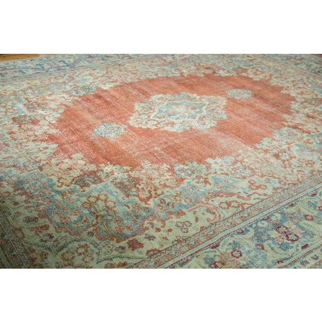 "Vintage Distressed Arak Carpet - 10' x 13'3"" For Sale In New York - Image 6 of 10"
