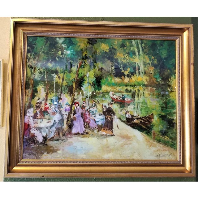 Remo Mario Trentini Reverse Oil on Glass For Sale - Image 13 of 13