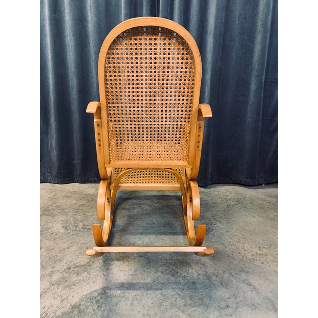 Crassevig Vintage Mid Century Crassevig Bentwood Rocking Chair For Sale - Image 4 of 7