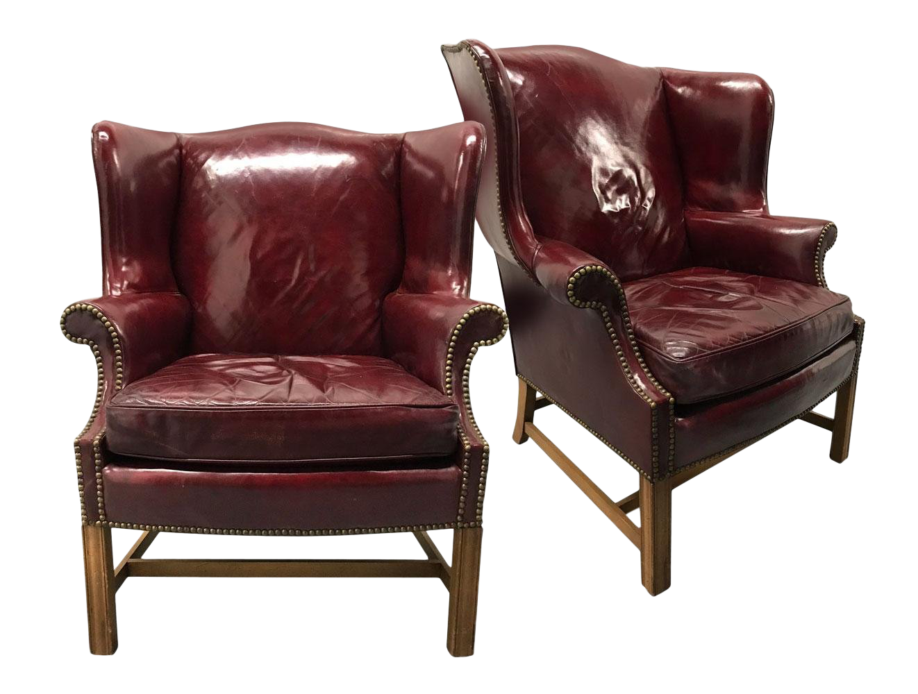 Vintage Leather Wingback Chairs U2014 A Pair