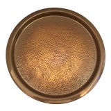 Image of Round Copper Tray by Coppercraft Guild For Sale
