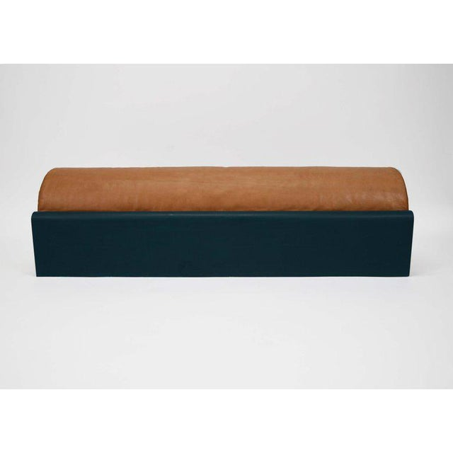 Asa Pingree Asa Pingree Monitor Fiberglass Upholstered Bench in Leather, Limited Edition of 10 For Sale - Image 4 of 5