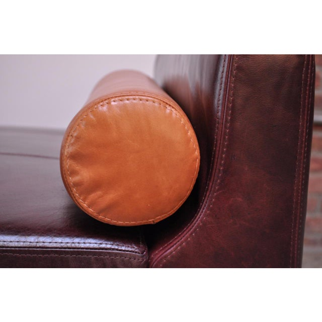 Leather 'Matinee' Sofa / Daybed by Vladimir Kagan For Sale - Image 11 of 13
