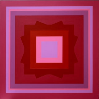 """""""Homage to Albers"""" Contemporary Geometric Hard Edge Acrylic Painting by Sassoon Kosian For Sale"""