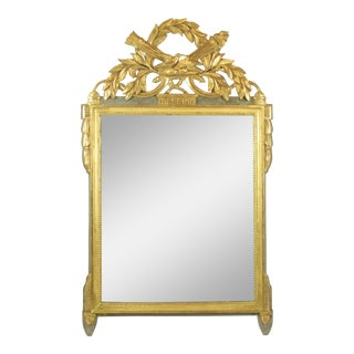 19th Century Louis XVI Style Giltwood Wall Mirror For Sale