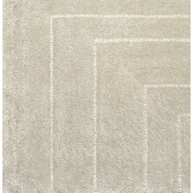 Not Yet Made - Made To Order White Garden Neutral Rug From Covet Paris For Sale - Image 5 of 7