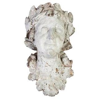Female Plaster Head #2 For Sale