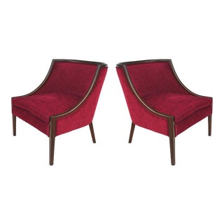Mid-Century Modern Mahogany Club Chairs by the Furniture Shop - a Pair For Sale