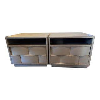 Dorian Contemporary End Tables - A Pair For Sale
