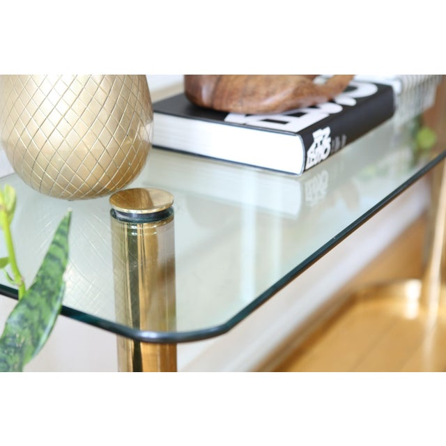 Mid-Century Pace Collection Glass Console Table - Image 4 of 8