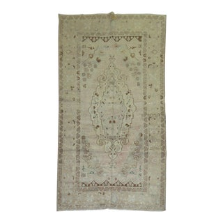 Vintage Turkish Oushak Rug, 4'8'' x 8'3'' For Sale