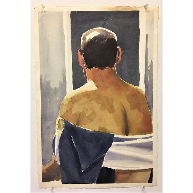 Male Nude Watercolor Study - Image 3 of 4