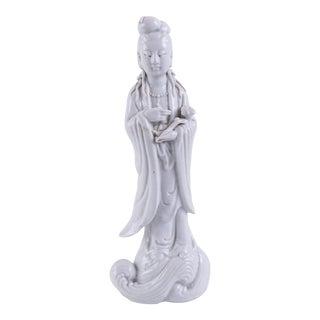1910s Chinoiserie Blanc De Chine Statuette For Sale