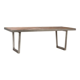 Costa Wood & Steel Dining Table For Sale