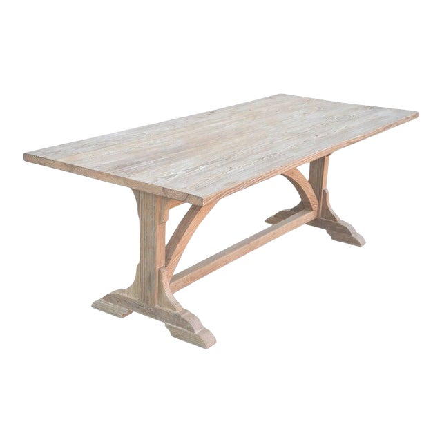 Petersen Antiques Heart Pine Expandable Farm Table For Sale