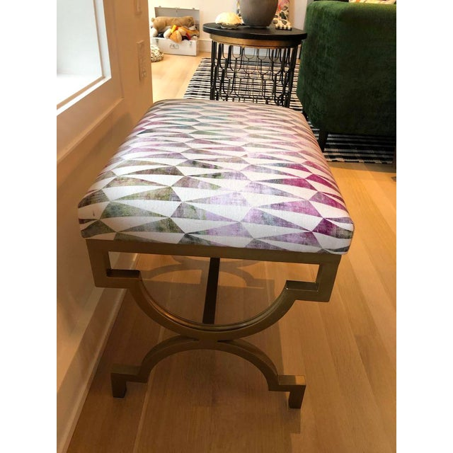 Modern Scalamandre Upholstered Benches - a Pair For Sale In Chicago - Image 6 of 7