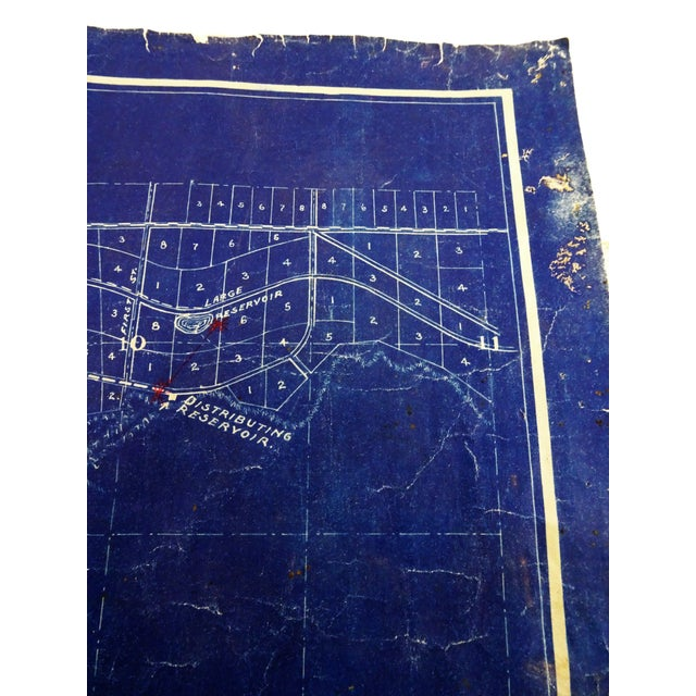 Antique Blue Print Map of Southern California For Sale - Image 9 of 13