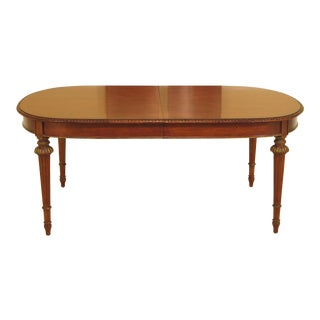 John Widdicomb French Louis XVI Style Walnut Dining Table