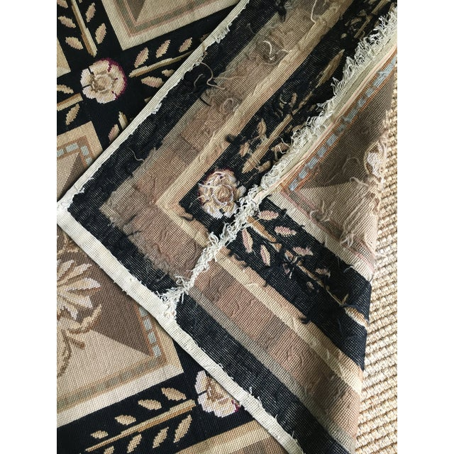 Stark Aubusson Rug- 6′ × 9′3″ For Sale - Image 11 of 13