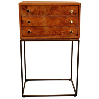 Milo Baughman 3 Drawer Jewelry Chest For Sale