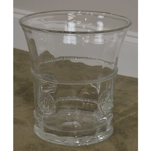 Glass Abigails Czech Republic Lion Head Glass Ice Bucket For Sale - Image 7 of 13