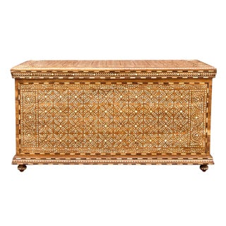 Fine Damascene Bone Inlay Trunk For Sale