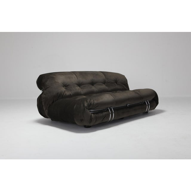 1970s Soriana Two-Seat Sofa by Afra and Tobia Scarpa for Cassina For Sale - Image 5 of 12