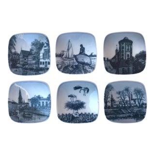 Vintage Bing & Grondahl Danish Mini Plates-Set of 6 For Sale