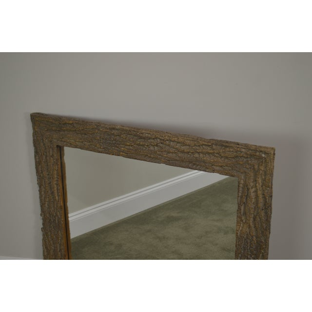 Rustic Faux Tree Bark Rectangular Wall Mirror For Image 3 Of 13