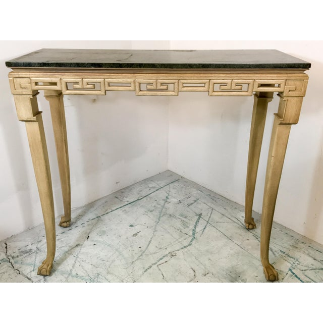 Italian Greek Key Tall Console Table - Image 2 of 6