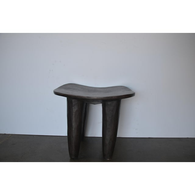 Senufo Modern Wood Stool From Africa For Sale - Image 4 of 8