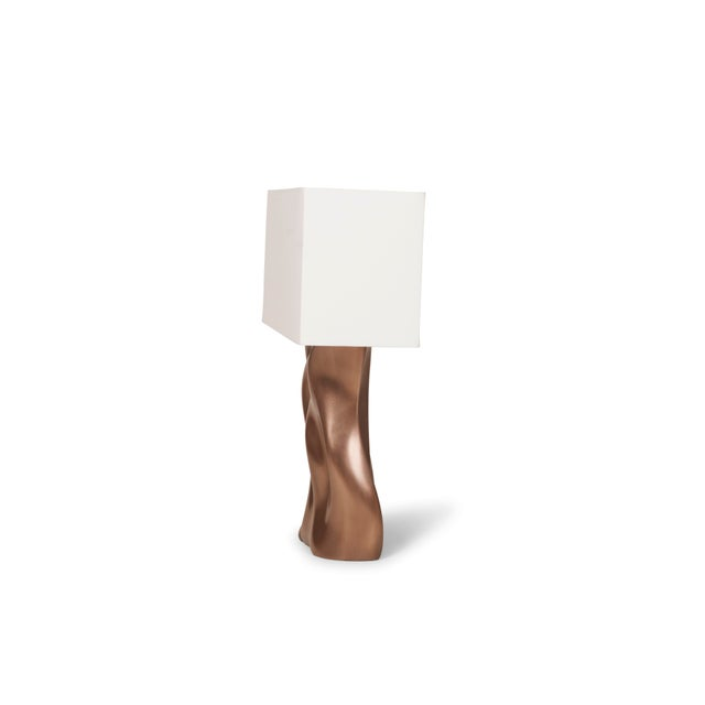 Amorph Amorph Doris Table Lamp in Bronze Finish and Ivory Silk Shade For Sale - Image 4 of 8