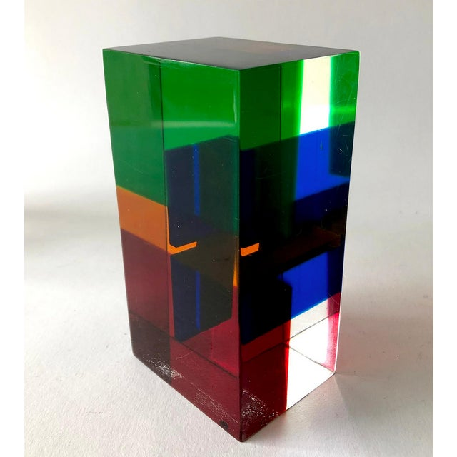 Late 20th Century 1970s Merle Edelman Acrylic Layered Sculpture For Sale - Image 5 of 7